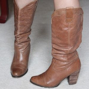 Steve Madden Leather Cow Boy Boots